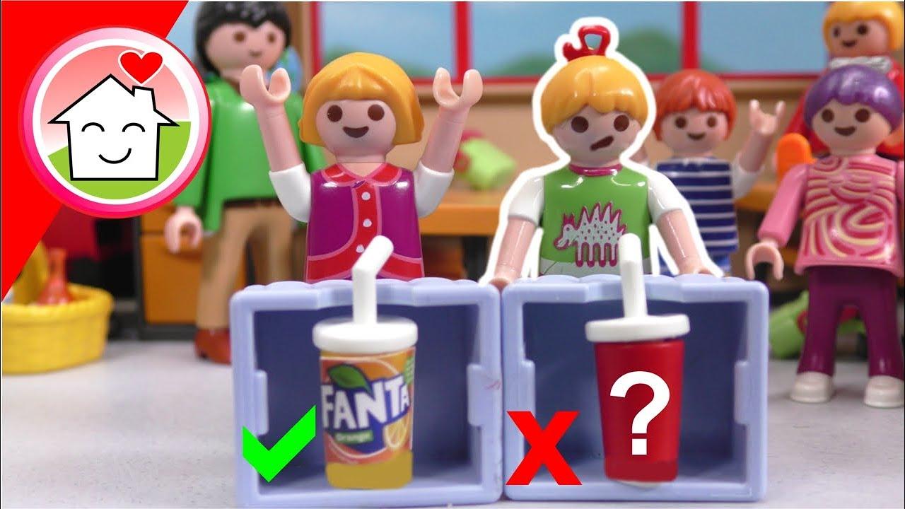Playmobil Familie Hauser - Waehle nicht das falsche Getraenk - Schulgeschichte mit Lena