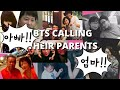 BTS calling their parents and relatives Jungkook, Taehyung, Jimin, Jhope calling their parents