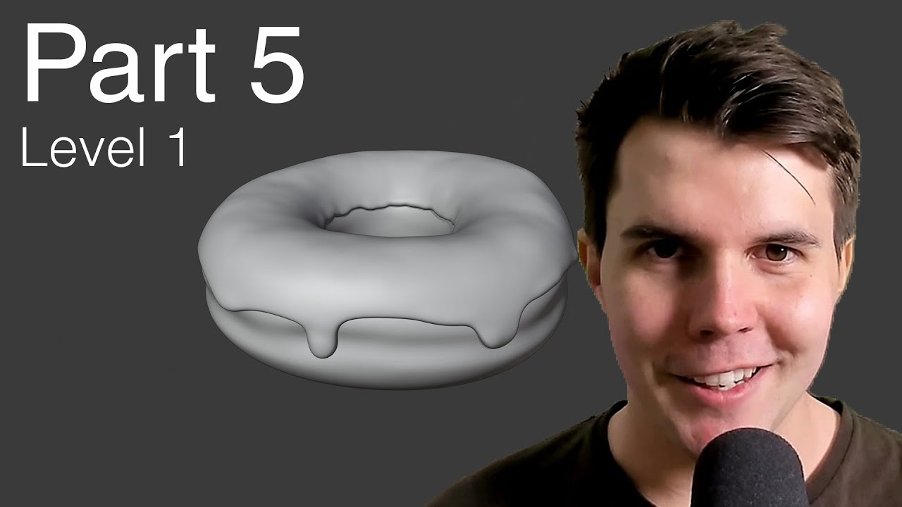 Blender Beginner Tutorial Level 1 - Part 5: Sculpting