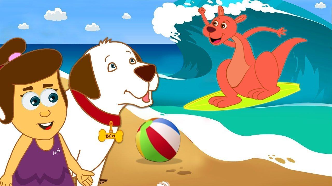 Ek Surfing Kangaroo   Hindi Cartoon For Children   Annie Aur Ben Ke Adventures