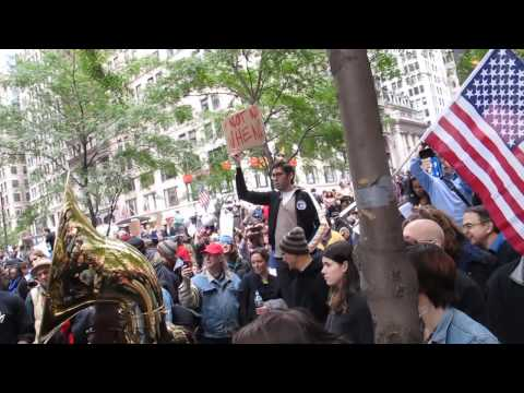 Occupy Wall Street at Zuccotti Park Daytime