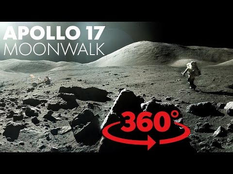 Thanks, NASA! We made a virtual reality moon walk with your awesome pics