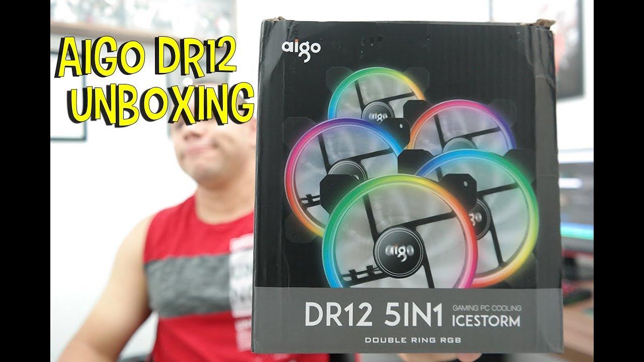 Fan Aigo DR12 Comprado no Aliexpress - Unboxing e testes