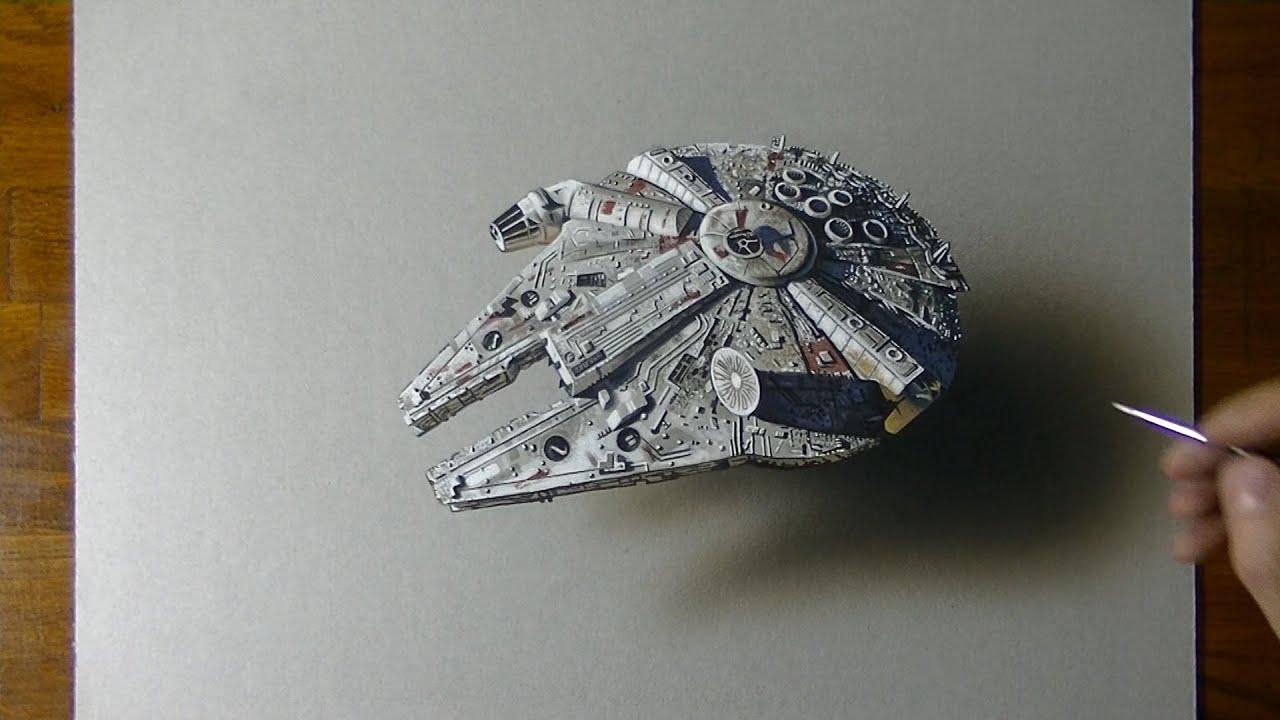 Millennium Falcon | Star Wars | Drawing #6 (Fan Art)   YouTube