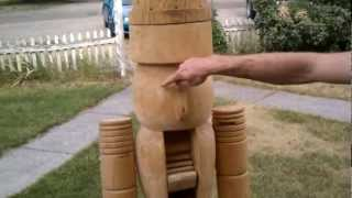 Life Size Home Made Nutcracker!