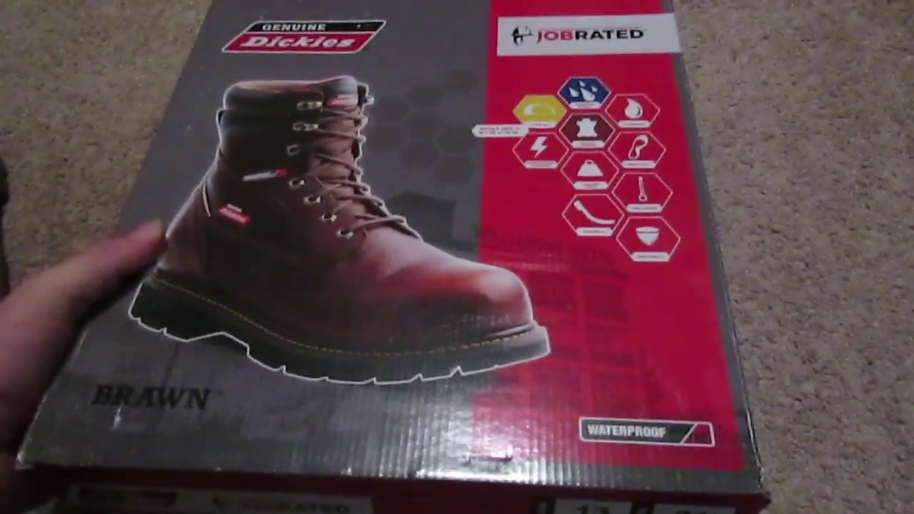 0c7ad22afe8 Dickies Brawn Job Rated Steel Toe Work Boots Unboxing