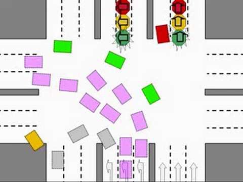 Traffic lights in Doha, Qatar