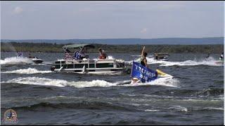Saratogians Celebrate Trump with a Boat Parade on Saratoga Lake
