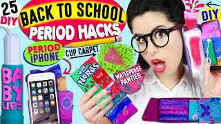 25 Period Life Hacks For Back To School: Period Phone Case, Tampon Baby Lips, DIY Menstrual Cup Rug! thumbnail