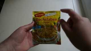Unboxing Maggi Buchstabensuppe