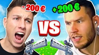 200€ SCOPE REVOLVER 1v1 gegen STANDARTSKILL in FORTNITE !