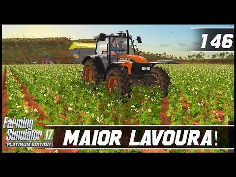 COMPREI A MAIOR LAVOURA DO MAPA! | FARMING SIMULATOR 17 PLATINUM EDITION #146 [PT-BR]