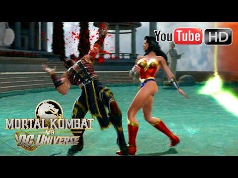 Mortal Kombat VS DC Universe [Xbox 360] - ✪ Wonder Woman Vs Shang Tsung ✪ | Full HD