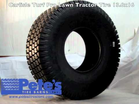 Carlisle Turf Pro Lawn Tractor Tire 13.6x16 - YouTube