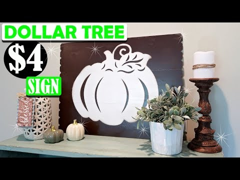 Dollar Tree Fall Wall Art Sign - Fall Room Decor