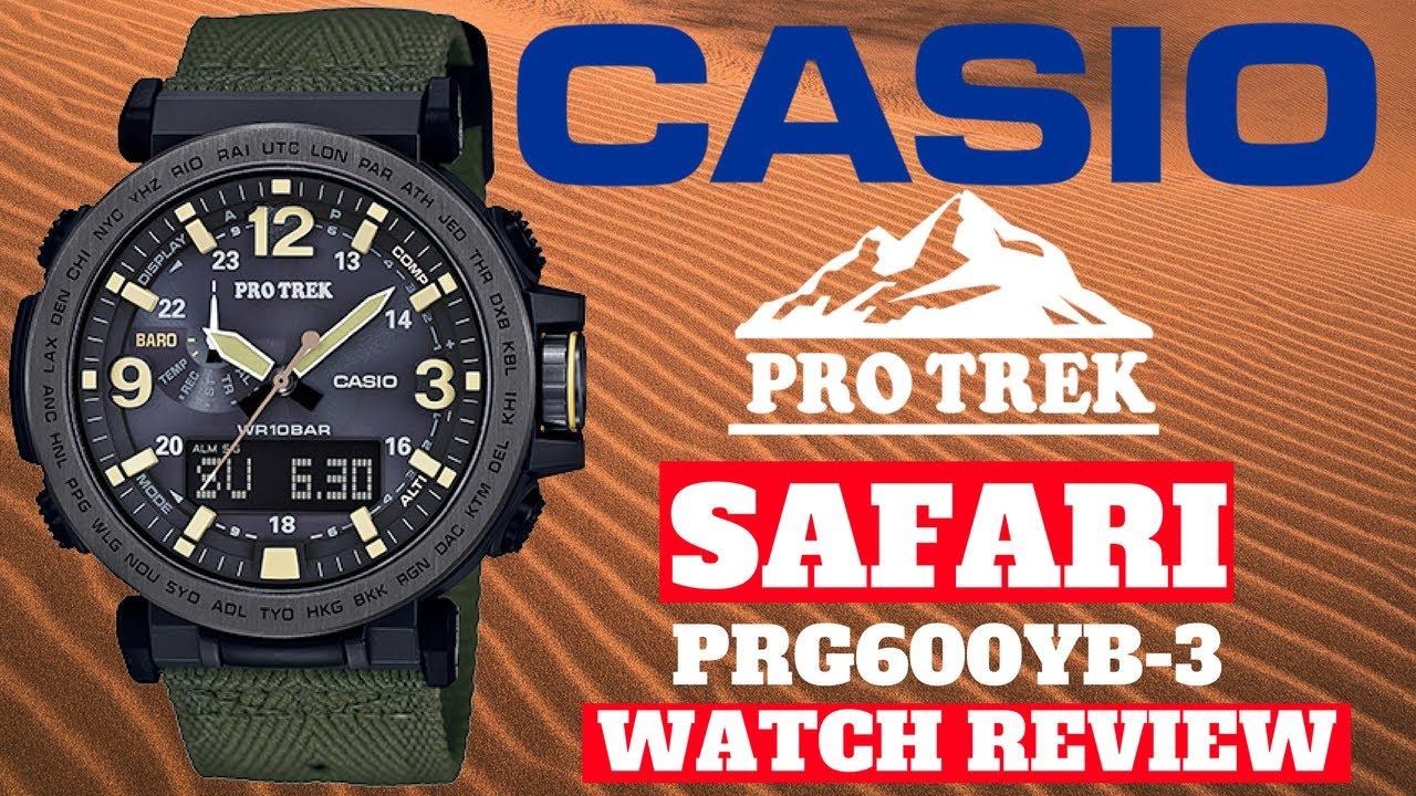 4k Casio Pro Trek Safari Mens Watch Review Model Prg600yb 3 Youtube Edifice Efr546bkg1av