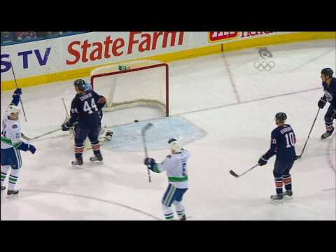 Canucks at Oilers - Game Highlights - 01.20.10 - HD