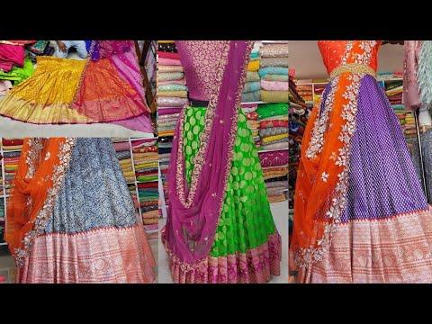 Chickpet Bangalore Wholesale&Retail Lehanga Shop/Bridal Banaras Lehangas/ Courier Available/Shopping