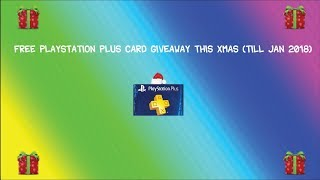 Free PlayStation Plus Membership Prepaid Card Giveaway This Christmas (till January 2018 )
