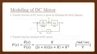 Modeling of DC motor and PID Controller Design