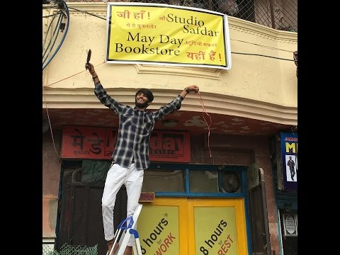 Celebrating May Day at May Day Bookstore in Delhi