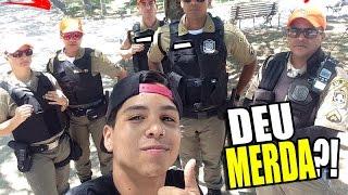 FUI PRESO?! TIRANDO FOTO COM POLICIAIS NA RUA