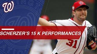 Max Scherzer's five 15-K performances of his career