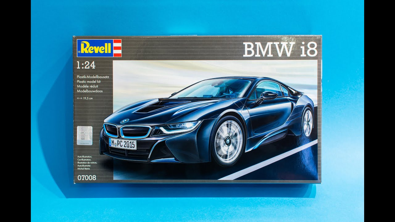 Revell 1 24 Bmw I8 Model Kit Unboxing And Review Youtube