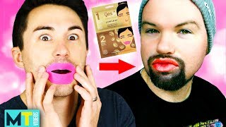 Men Try Lip Plumpers for the First Time
