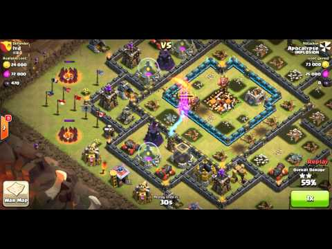 GoWiPe Attacks Vs Maxed Out Th 10's (Except Walls/Hero's)