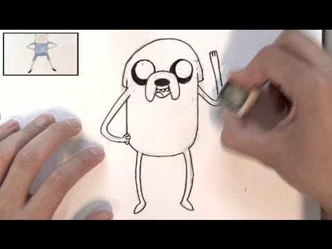 Cómo Dibujar A Jake De Hora De Aventura Dibujos Para Pintar