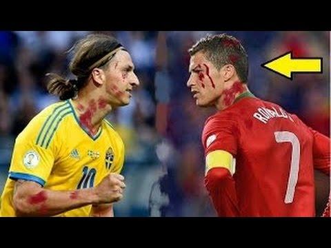 Cristiano Ronaldo Vs Zlatan Ibrahimovic Top 10 Craziest Fights Fouls Red Cards