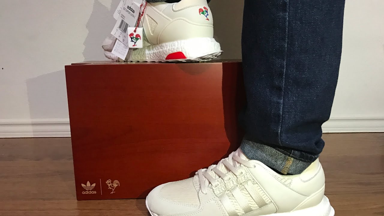 huge discount 84755 c1f71 Adidas EQT Support Ultra CNY unbox on feet review! Year of the