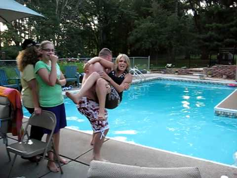gettin thrown into pool~!