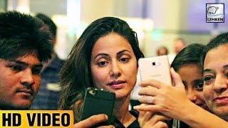 Hina Khan Shows Tantrums While Clicking Selfies At Airport