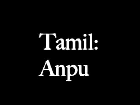 How To Say Love In Tamil Youtube