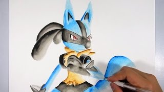 Cómo dibujar a Lucario 3D  - How to Draw Lucario 3D Pokemon go