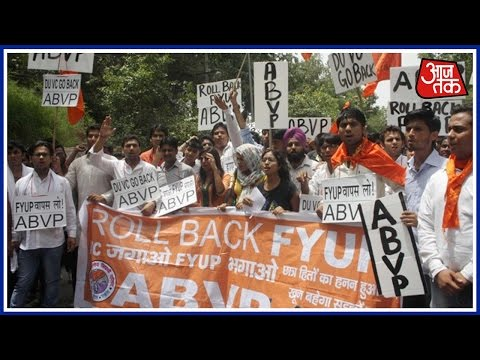 North campus violence: ABVP Protests Outside D.U