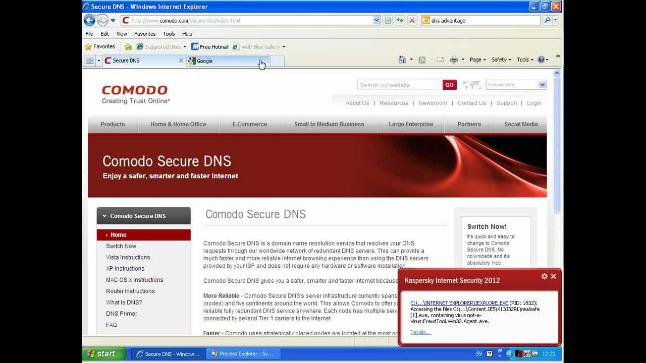 Opendns Vs Nortondns Vs Comodo Secure Dns Youtube