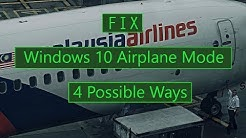 How to Turn Off Windows 10 Airplane Mode ( 4 Ways )