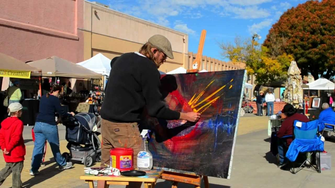 Allowistic Artist Vincent Strader Painting at the Las Cruces Market. Nov 20, 2010