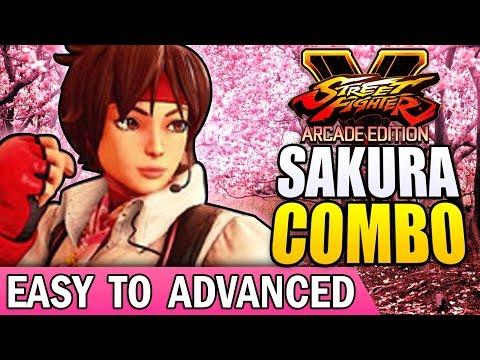 SFV - SAKURA Combo Guide - Easy to Advanced!