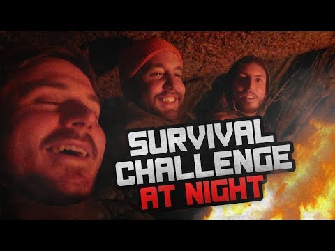 OVERNIGHT IN THE FOREST (FREEZING) 24 HOUR CHALLENGE!