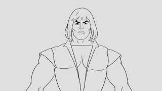 "He-man and The Masters of the Universe opening theme ""pure design"""