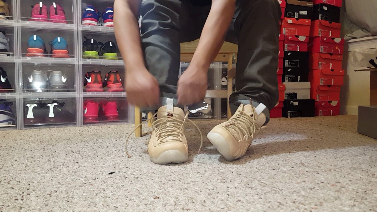 fda894e72f6 Vachetta Tan AS Foamposite On Feet - YouTube