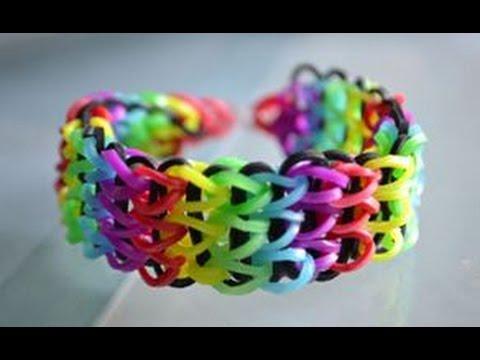 comment faire un bracelet lastique triple rainbow loom. Black Bedroom Furniture Sets. Home Design Ideas