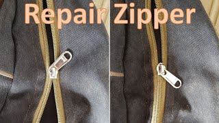 How-to repair a zipper that doesn't close properly: Life Hack #2