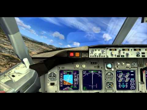 BOEING 737 800, Tour de piste MALAGA( LEMG), SPAIN, landing ILS runway 31