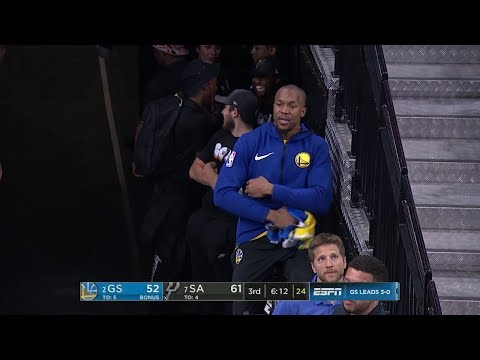 David West Gets Technical Foul While Riding Bike in Tunnel vs Spurs - Game 4 | 2018 NBA Playoffs
