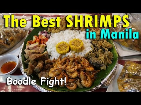 The BEST SHRIMPS In MANILA (BOODLE FIGHT!)   April 19th, 2017   Vlog #88